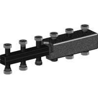 Распределительный коллектор из чёрной стали (до 3 отопительных контуров)