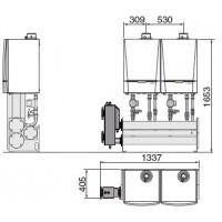 """Каскадная система (из 2/3/4 котлов) для монтажа в один ряд на стене: """"LW"""" (мощностью от 080 до 428 кВт)"""