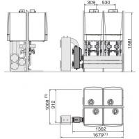 """Каскадная система (из 2/3/4 котлов) для монтажа """"спина к спине"""": """"RG"""" (мощностью от 120 до 428 кВт)"""