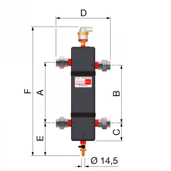 Гидрострелка схема Flexbalance EcoPlus C 1 Flamco